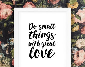 Nursery Wall Art Girl Inspirational Nursery Prints Typography Print Best Selling Items Do Small Things With Great Love Quotes Printable