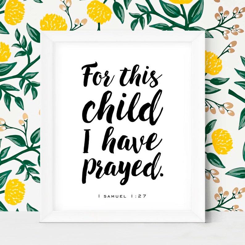 Nursery Wall Art Baby Gift Printable Gift Bible Verses image 0