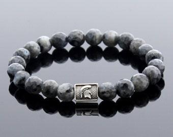 Men Gemstone Bracelet, Gladiator Bracelet, Gift for Men, Spartan Bracelet, Men Gift, Bracelet for Men, Labradorite Bracelet, Beaded Bracelet