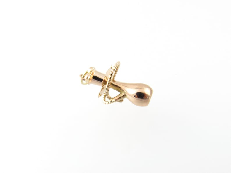 Vintage 14 Karat Rose Gold Hookah Pipe Charm #5069