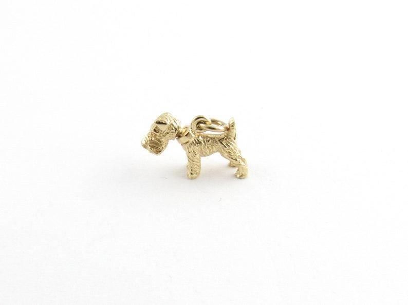 Vintage 14 Karat Yellow Gold Schnauzer Dog Charm #5395