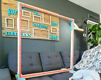 DIY Rug Tufting Frame 40 inch with custom brackets and yarn guide. Frames assemble easy. Ideal for Tufting Guns - Made in the USA