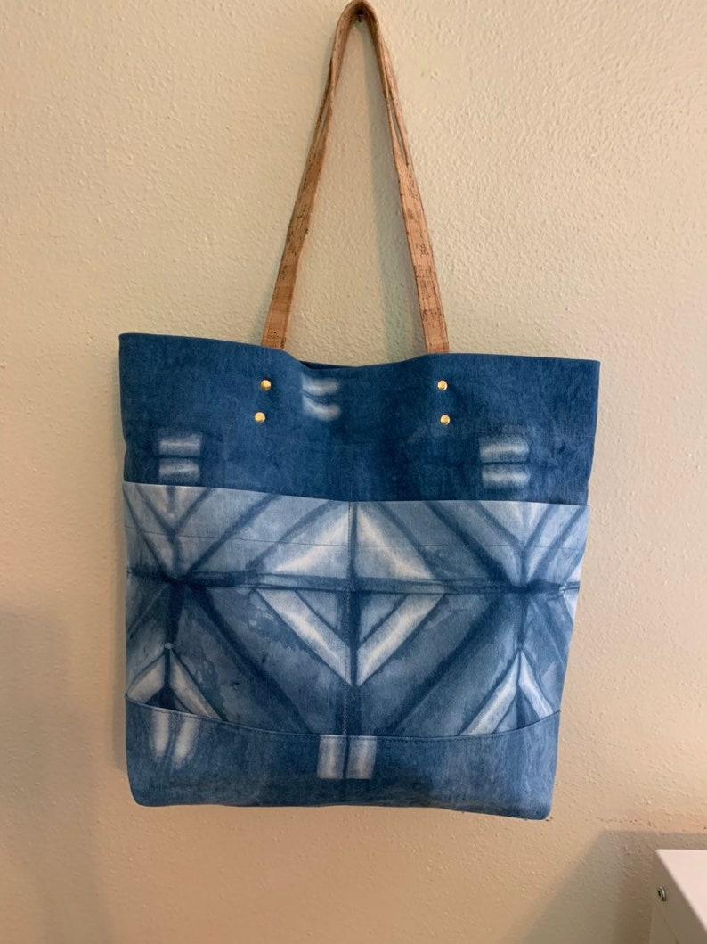 Five Pocket Shibori Tote Bag