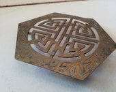 Brass trivet stand, Asian design