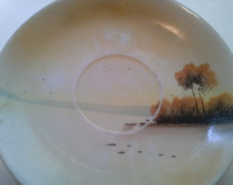 Japanese hand painted saucer