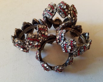 Rhinestone napkin rings