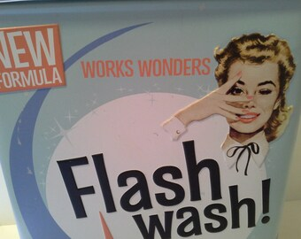 Vintage style wash tin for your washing powder