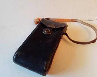 Reduced Leather camera case
