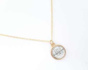 Necklace with nautical chart
