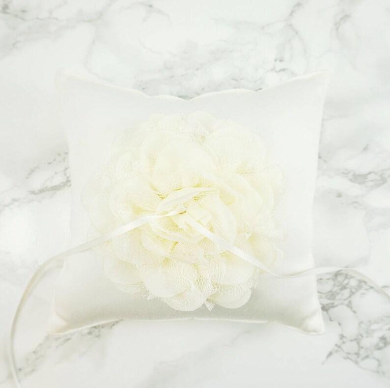 42e16d210ff Wedding Ring Pillow   Ring Bearer Pillow   Off White Cotton