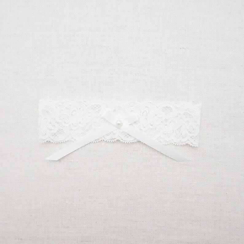 Tulle Bridal Garter Set  Off White Wedding Garter  Bridal Satin Garter Set Simple Bridal Garter  Keepsake Garter  Bridal Shower Gifts