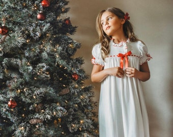 Nutcracker Clara Nightgown,Girls Christmas Nightgown,Christmas Pajamas,Kids Christmas Pajamas,Kids Nightgown,Christmas PJs, Family PJ's