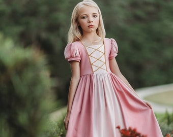 Maturead Little Girls Princess Dress Gown for Kids Surprised Girls Fancy Dress Party