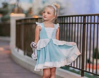 READY TO SHIP, Cinderella dress,princess dress, cinderella cosplay,twirl dress,cinderella birthday dress,halloween costume,birthday