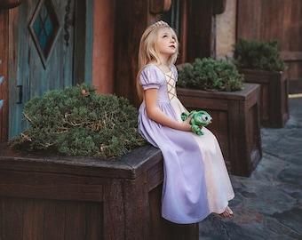 READY TO SHIP Rapunzel dress,girls dress,toddler dress,disney world outfit,tangled birthday,long princess dress,birthday dress,girls outfit