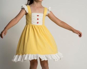 d0d182cdaf7a Beauty And the Beast Dress,Belle Costume,Princess Dress,Disney Princess  Dresses,Princess birthday dress,girls dress