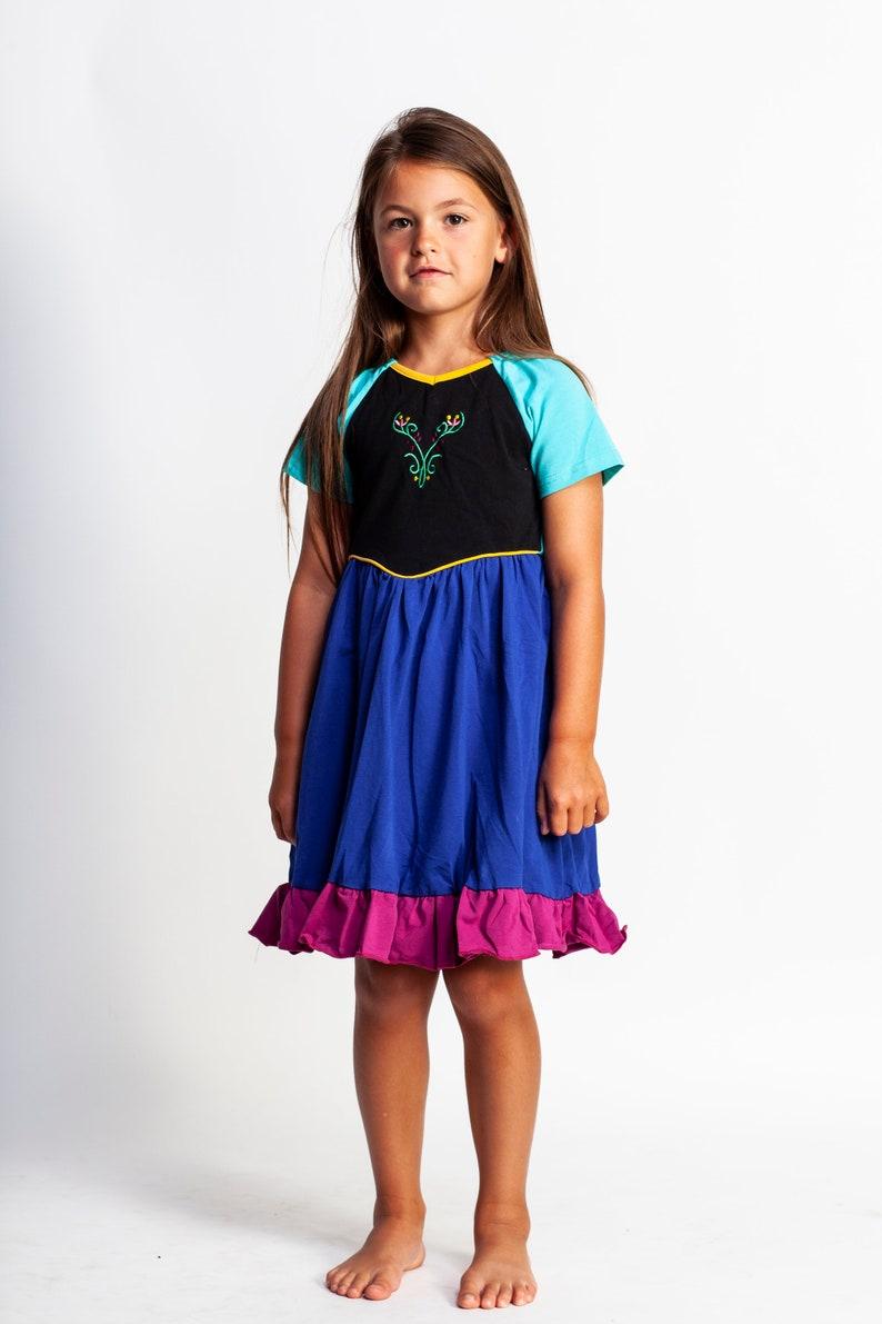 Girls Princess Dress,frozen Costume,anna Halloween Costume,elsa Halloween  Costume,disney Princess Costume,frozen Birthday