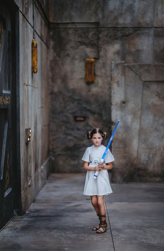 GIRL SIZE 5-6 DISNEY STORE STAR WARS PRINCESS LEIA COSTUME /& WIG NWT