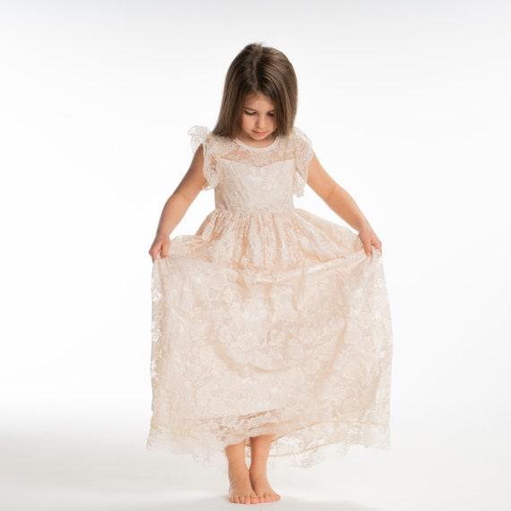 1923050d4547 Flower girl maxi dressivory girls dresslong flower girl | Etsy