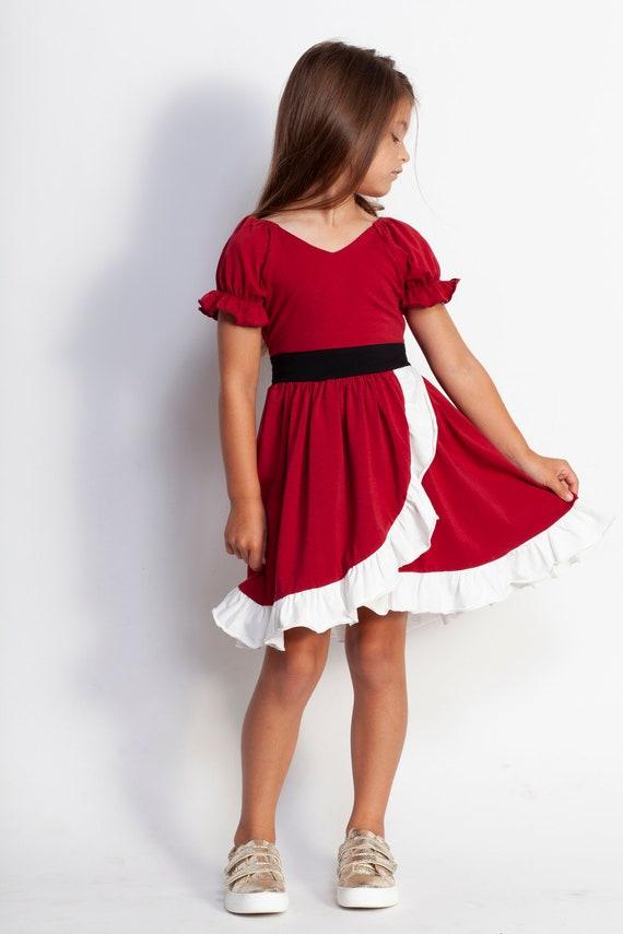 christmas twirl dressmrs claus costumebreakfast with santa etsy - Red Christmas Dresses