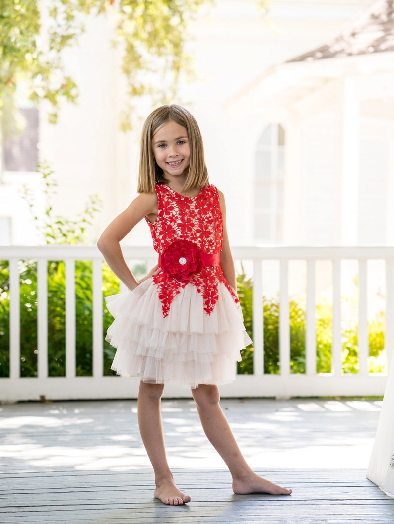 dd0957b5ffa1 SALE SALE Girls Christmas dressred girls christmas   Etsy