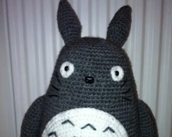 Totoro, Large Totoro, Amigurumi Totoro, Handmade Totoro, Crochet Totoro, Jumbo Totoro, Grey Totoro, Totoro Gift, Totoro Toy
