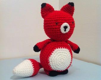 Fox, Fox Cub, Baby Fox, Amigurumi Fox, Handmade Fox, Red Fox, Toy Fox, for gift