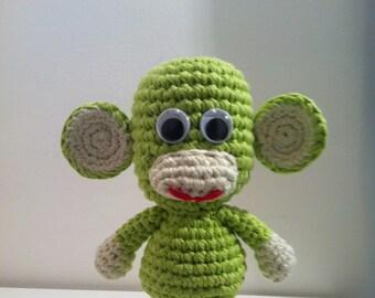 Crochet Monkey, Toy Monkey, Amigurumi Monkey, Handmade Monkey Toy, Monkey, Toy Monkey,  Stuffed Animal, Green Monkey