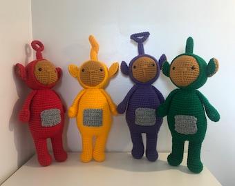 Teletubbies Set of dolls, Tinky Winky - Dipsy - Laa Laa - Po, Teletubbie Toys, Teletubbies Gift Set
