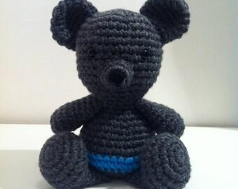 Teddy Bear, Crochet Teddy Bear, Amigurumi Teddy Bear, Stuffed Animal, Handmade Teddy, Soft Toy, Teddy Bear Gift, Grey Teddy Bear