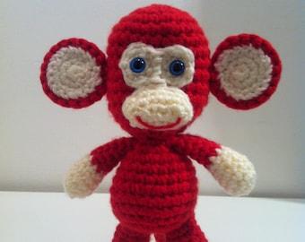 Crochet Monkey, Toy Monkey, Amigurumi Monkey, Handmade Monkey Toy, Monkey, Toy Monkey,  Stuffed Animal, Red Monkey