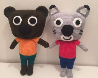 Mouk, Chavapa, Mouk and Chavapa, Amigurumi, Crochet, Handmade, Gift, Soft Toy, Crochet Mouk, Cartoon