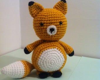 Fox, Fox Cub, Baby Fox, Amigurumi Fox, Handmade Fox, Yellow Fox, Toy Fox, for gift