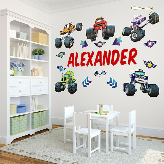 Life Size Blaze And The Monster Machines Personalized Name Etsy