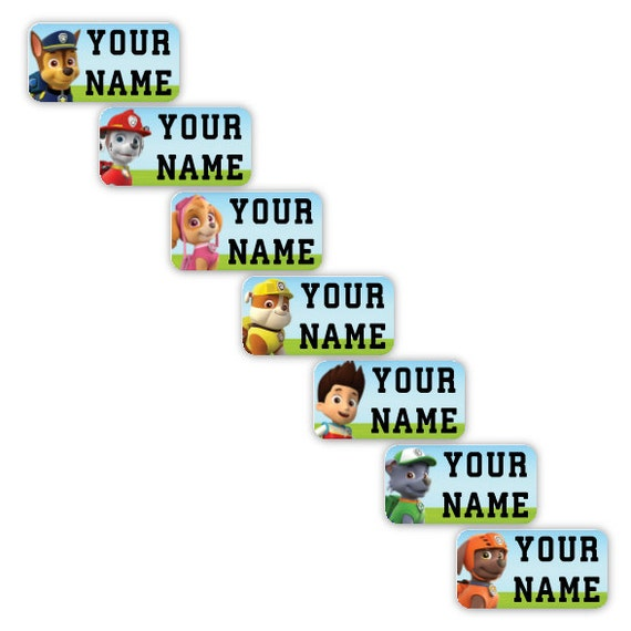 Paw Patrol Personalized Clothing Labels For Tags Stick