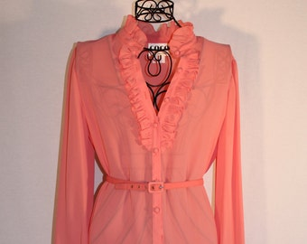 Coco California pink sheer belted dress