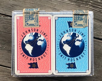 Deck ofJohnson Line Vintage Playing Cards