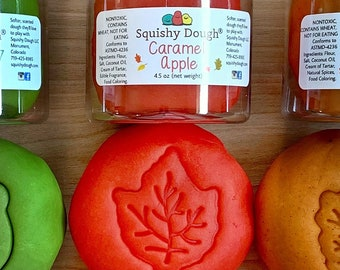 Red Caramel Apple Play Dough - Fall Play Dough - Fall Scented Dough - Squishy Dough - Aromatherapy Toys - Sensory Toys - Toddler Toy