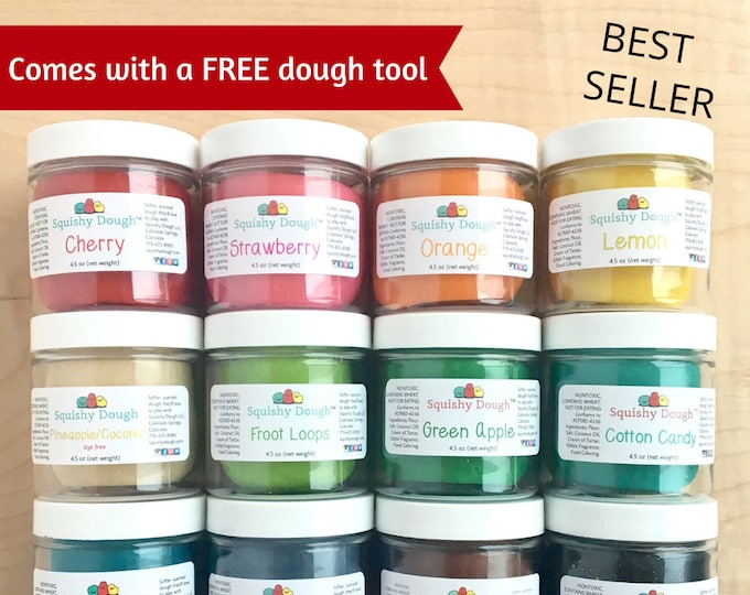 Featured listing image: 12 Pack Scented Play Dough - 4.5 oz Dough - Sensory Toys - Play Dough - Montessori - Kids Gift - Aromatherapy - Toddler Toy - Squishy Dough