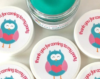 Owl Party Favor Play Doughs - Owl Birthday Party Favors - Play Dough Party Favors - Squishy Dough Party Favors - Play Dough Party