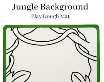 Jungle Plastic Play Dough Mat