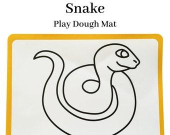 Snake Plastic Play Dough Mat