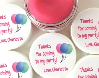 Playdough Party Favors - Homemade Scented Play Dough Party Favors with Birthday Balloon Stickers - Play Doh Party Favors