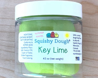 Key Lime Scented Play Dough - Summer Play Dough - Sensory Dough - Sensory Toy - Aromatherapy Dough - Play Doh - Toys for Kids