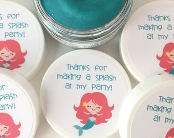 Mermaid Party Favor Doughs - Mermaid Party Favors - Mermaid Birthday - Play Doh Party Favors - Squishy Dough Party Favors - Play Doh Party
