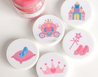 Princess Birthday Party Favor Play Doughs - Princess Party Favors - Princess Birthday - Play Dough Birthday Party - Princess Play Doh