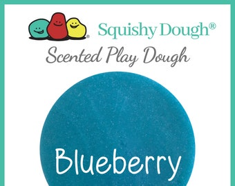 Blueberry Scented Play Dough - Blue Play Dough - Blueberry Squishy Dough - Homemade Play Dough - Blue Putty - Squishy Dough