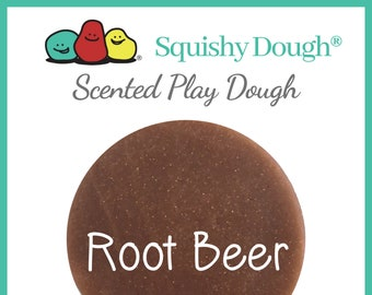Root Beer Scented Play Dough- Brown Play Dough - Root Beer Scented - Aromatherapy Dough - Sensory Toys -Gifts for Kids - Squishy Dough