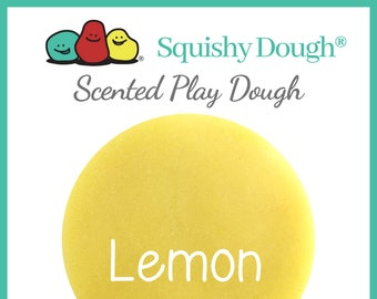 Yellow Lemon Scented Play Dough - Homemade Play Dough - Yellow Putty - Lemon Play Dough - Squishy Dough