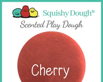 Red Cherry Scented Play Dough - Homemade Play Dough - Red Putty - Squishy Dough